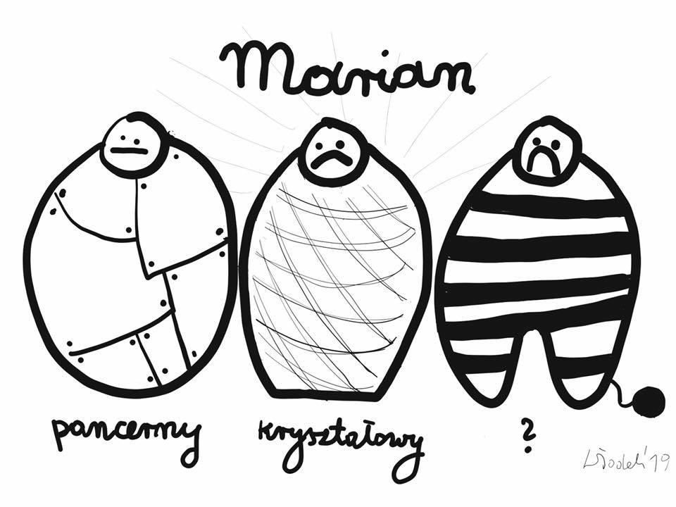 Trzy wersje Mariana Banasia: Pancerny, kryształowy i więzienny.